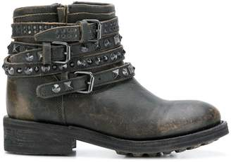 Ash buckled ankle boots