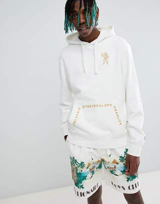 Billionaire Boys Club hoodie with ideal back print in white