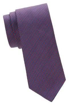 Saks Fifth Avenue Horizontal Stripe Silk Tie