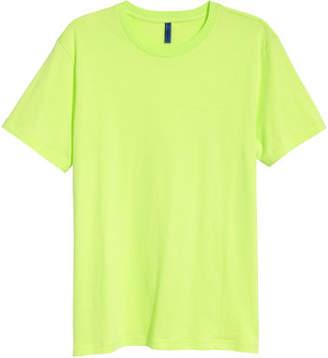H&M Round-necked T-shirt - Yellow