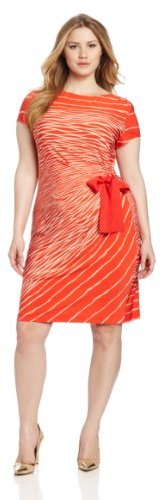 Julian Taylor Women's Plus-Size Side Tie Dress