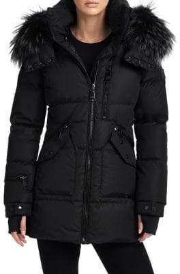 SAM. Fox Fur Trim Cruiser Puffer Jacket