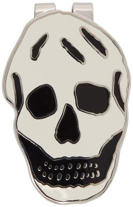 Alexander McQueen Off-White Skull Money Clip