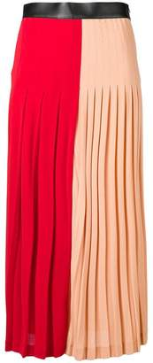 Givenchy two-tone pleated midi skirt