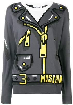 Moschino 8bit print knit sweater