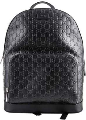 b98168524 Gucci Signature Backpack GG Monogram Front Zipper Pocket/Embossed Black