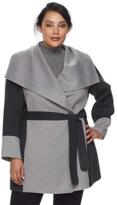 Apt. 9 Plus Size Draped Collar Coat