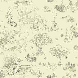 York Wall Coverings York Wallcoverings Disney's Winnie the Pooh & Friends Toile Removable Wallpaper