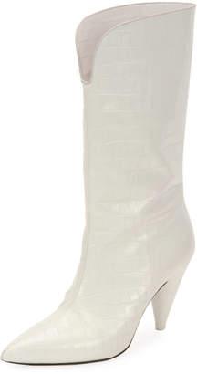 ATTICO Betta Mid-Calf Pointed Boots