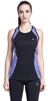 Goodsport Women's Moisture-Wicking Round-Neck Print Sleeveless Tank