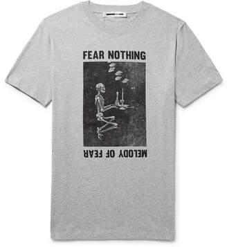 McQ Printed Mélange Cotton-Jersey T-Shirt