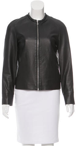 Cacharel Cacharel Collarless Leather Jacket