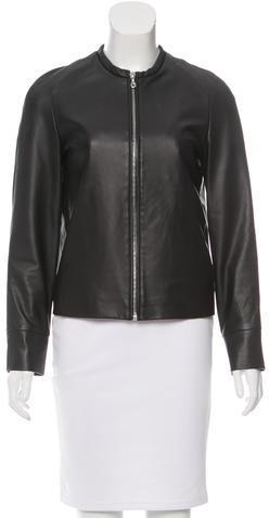 CacharelCacharel Collarless Leather Jacket