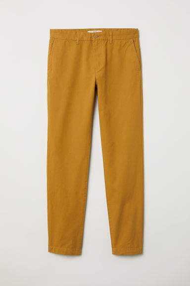 H&M - Cotton Chinos Slim fit - Yellow