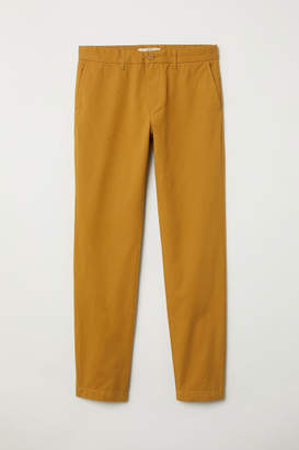 H&M Cotton Chinos Slim fit - Yellow