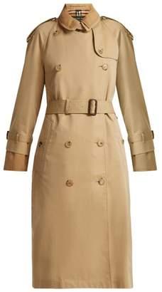 Burberry Double Layer Cotton Gabardine Trench Coat - Womens - Beige