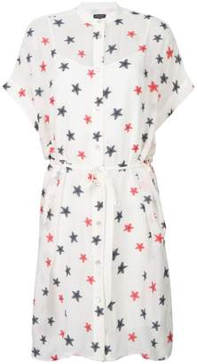 Rag & Bone star embroidered shirt dress
