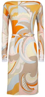 Emilio Pucci Belted Swirl Dress