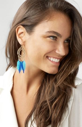 Women's Baublebar Feather Drop Earrings 2