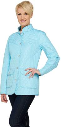 Dennis Basso Lightweight Water Resistant Reversible Quilted Jacket