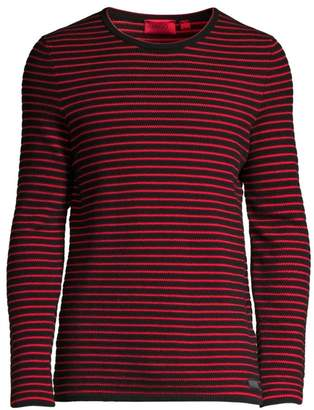 c982cdac1 HUGO Shimo Regular-Fit Stripe Sweater