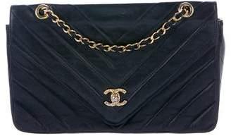 Chanel Lambskin Chevron Flap Bag