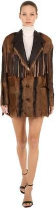 Isabel Marant Bamboo Fringed Leather Jacket