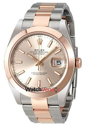 Rolex Datejust 41 Sundust Dial Steel and 18K Rose Gold Men's Watch 126301SNSO