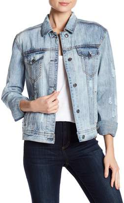 Bagatelle Embroidered Back Denim Jacket