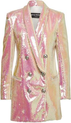 Balmain Double-Breasted Sequin Blazer