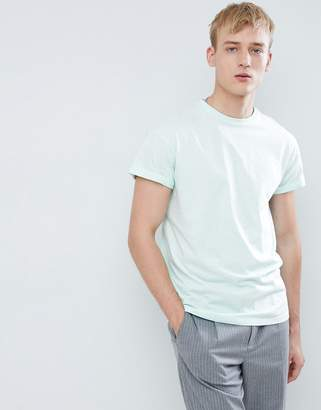 New Look T-Shirt With Roll Sleeve In Mint Green
