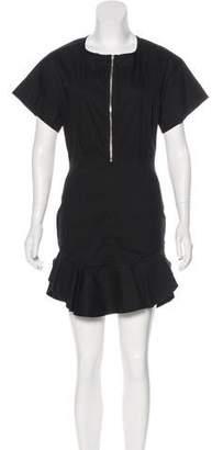 Etoile Isabel Marant Linen Blend Zip-Up Dress