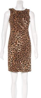 MICHAEL Michael Kors Leopard Print Sheath Dress