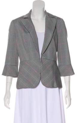 Trina Turk Checked Notched-Lapel Blazer