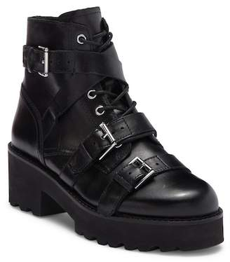 Ash Razor Leather Buckled Platform Boot