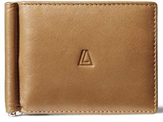 Leather Architect Men's 100% Leather Bifold Top Flap RFID Blocking Wallet with Money Clip and 12 Credit Card Slots