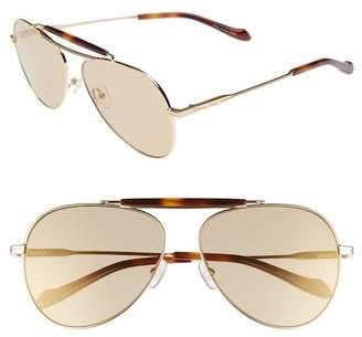 Sonix Nara 60mm Aviator Sunglasses