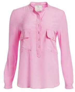 Stella McCartney Long Sleeve Half Button-Down Blouse