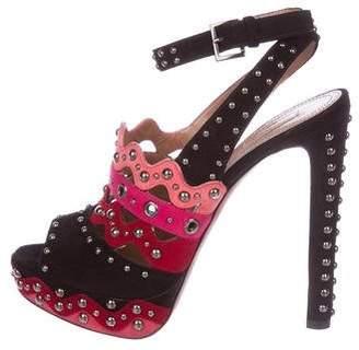 Alaia Suede Embellished Sandals