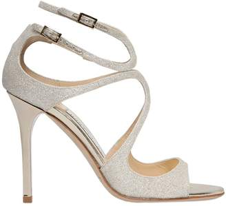 Jimmy Choo 100mm Lang Dusty Glitter Sandals