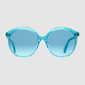Gucci Specialized fit round-frame acetate sunglasses