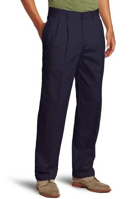 Izod Men's Big-Tall Pleated Extended Twill Pant
