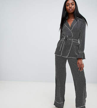 Missguided Tall Satin Polka Dot Wide Leg PANTS
