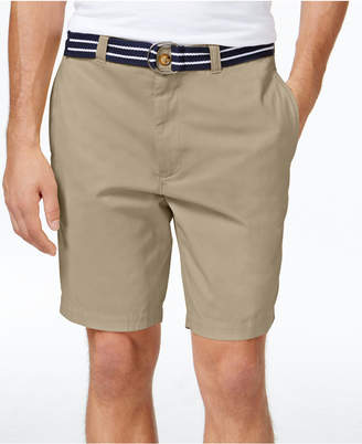 "Club Room Men's Estate Flat-Front Shorts with Belt 9"" Inseam, Only at Macy's $46 thestylecure.com"