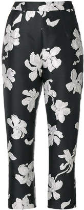Isa Arfen floral cropped trousers