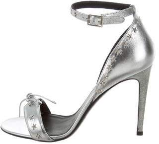 Rodarte Metallic Embellished Sandals w/ Tags