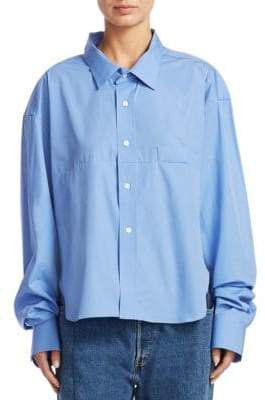 Vetements Social Worker Button-Front Shirt