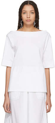 Marni White Cotton Jersey Blouse