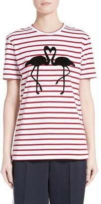 Women's Etre Cecile Flamingo Stripe Cotton Tee $120 thestylecure.com
