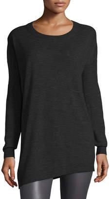 Joseph Asymmetric Cashmere Tunic Sweater